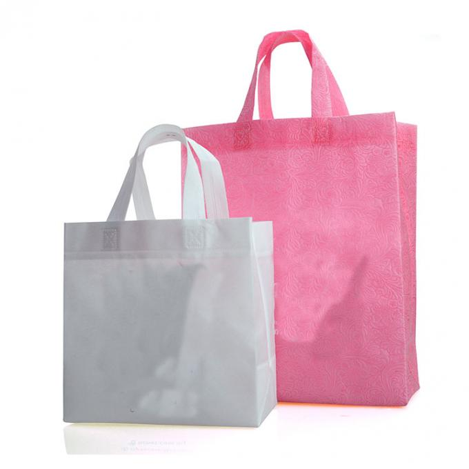Non Woven Christmas Laminated Shopping Bags Reusable Heat Transfer Printing