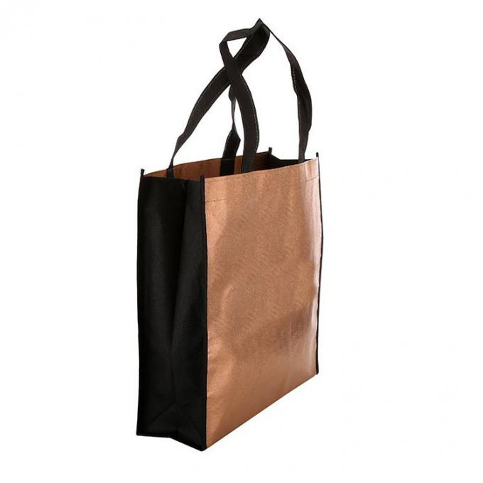 Recycle Non Woven Carry Bags Laminated Polypropylene Tote Bags Handled Style