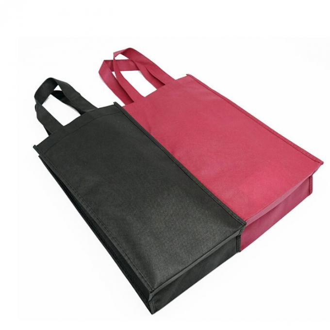 Recyclable Foldable Non Woven Wine Bags Silk Screen Or Offset Printing