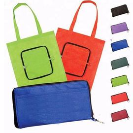 China Promotional Non Woven Reusable Shopping Bag Folds Into Itself Custom Logo supplier