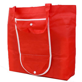 China Red Non Woven Reusable Shopping Bags That Fold Into Themselves Recyclable supplier