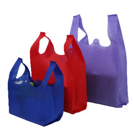 China Promotional Non Woven U Cut Bag  Lightweight Eco Friendly Grocery Tote supplier