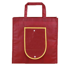 China Tear Resistant Non Woven Reusable Bags Fold Up Tote Bag Full Color Printing distributor
