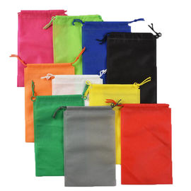 China Printed Drawstring Non Woven Tote Bags Reusable Environmentally Friendly 25X30 CM distributor